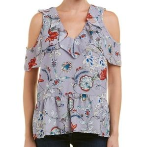 Parker Lilac Floral Sleeveless Top